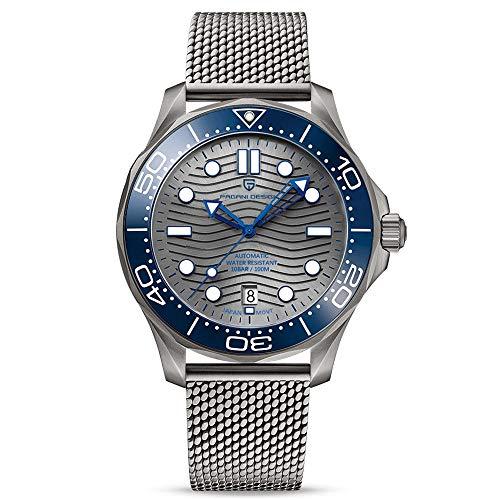 Pagani Design Seamaster Fashion Relojes automáticos para Hombres Buceo 100M Hombres Relojes de Pulsera mecánicos NH35A Movimiento Casual Wave Dial Hombres Reloj Deportivo