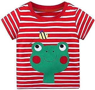 G6 6T Cute Frog Baby Girls t Shirts Little Girl Jumper Tee Shirt Summer Princess Girl's Blouse t-Shirt Kids Tops Cotton Tshirts 1-6T