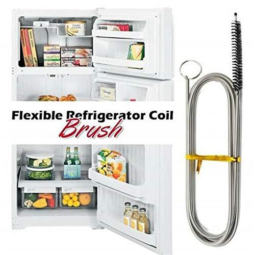 Longue brosse à récurer flexible pour réfrigérateur Nettoyeur flexible, 1/4\