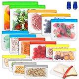 BAIYING Bolsa de Almacenamiento de Alimentos Reutilizable, 16 Pack 4 Tamaños...