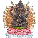 Pevfeciy La Escultura de Resina Piedra Arenisca Hue Buddism Godness Guanyin Estatua Hecha a Mano estatuilla Feng Shui Decoración Vignéswara,C