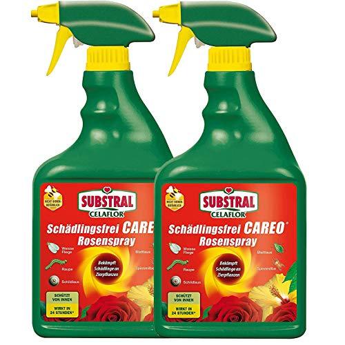Gardopia Sparpaket Celaflor Schädlingsfrei Careo Rosenspray 2x750 ml