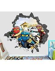 3D Verwijderbare Muursticker Muursticker Ninjago Film voor Thuis Woonkamer Slaapkamer Badkamer Keuken Decor Muurschildering