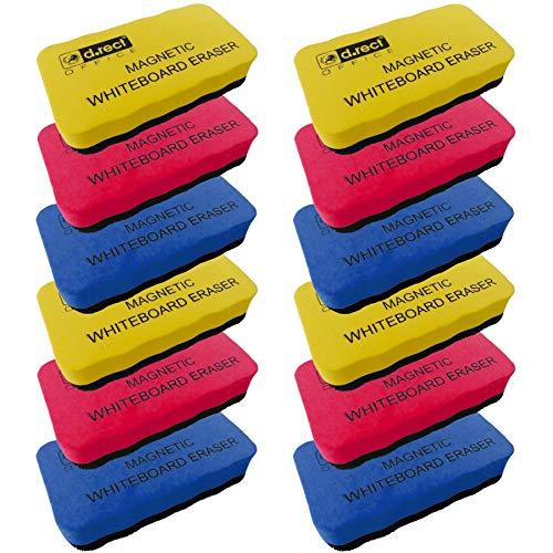 D.RECT Whiteboard Schwamm 12 Stück   EVA Magnetisch Magnettafel Reiniger Löscher Radierer   Wischer mit starkem Magneten für Trockenreinigung Ihres White Boards