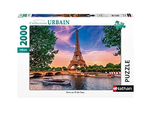 Nathan- Puzzle 2000 pièces Paris Fil de l'eau Puzle Adulto, Color (Ravensburger 4005556878840)