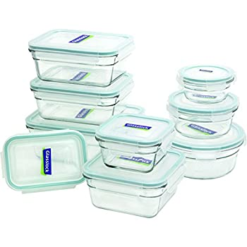 Glasslock 18-Piece Assorted Oven Safe Container Set