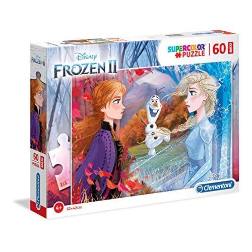 Clementoni-Clementoni-26452-Supercolor Disney Frozen 2-60 Maxi Pezzi, Puzzle Bambini, Multicolore, 26452