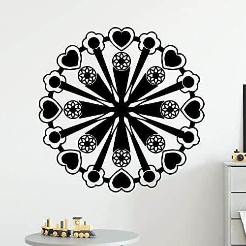 Pegatinas de pared de patrón geométrico cartel mural extraíble pegatinas de decoración de sala de estar pegatinas de pared impermeables Otro color 43x43cm