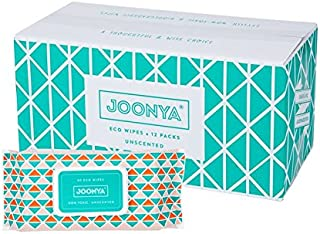 Joonya Baby Wipes - Non-Toxic, Biodegradable Baby Wipes for Calm, Healthy Skin - 100% Natural Baby Wipes - Unscented Baby ...