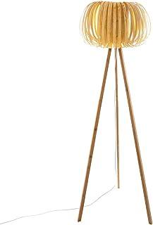 Lámpara de pie efecto madera Sien