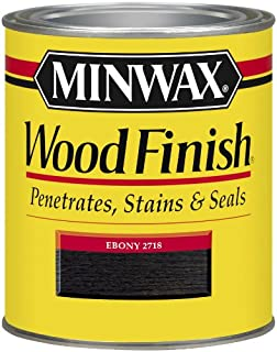 Minwax 227184444 Wood Finish Penetrating Interior Wood Stain, 1/2 pint, Ebony