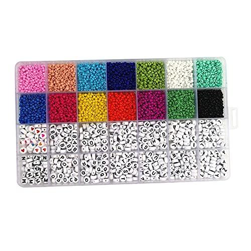 perfeclan 5000pcs 3 Mm Perlas de Semillas de Vidrio para Hacer Joyas Kit de Suministros Juego de Manualidades de Perlas Pequeñas Pulseras Collar Fabricación de
