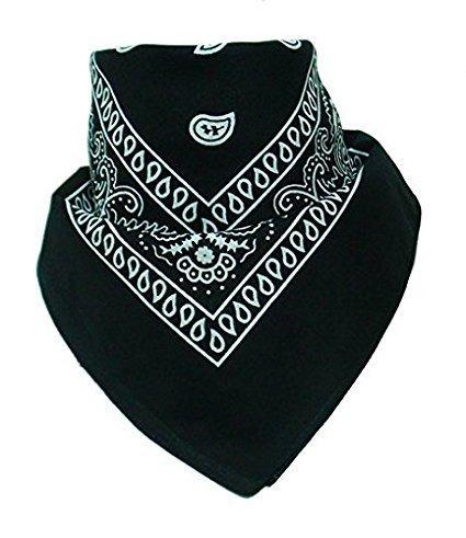 Boolavard 100% coton 1pcs, 6pcs ou 12pcs Pack Bandanas avec couleur de motif Paisley originale de couvre-chefs choix/cheveux