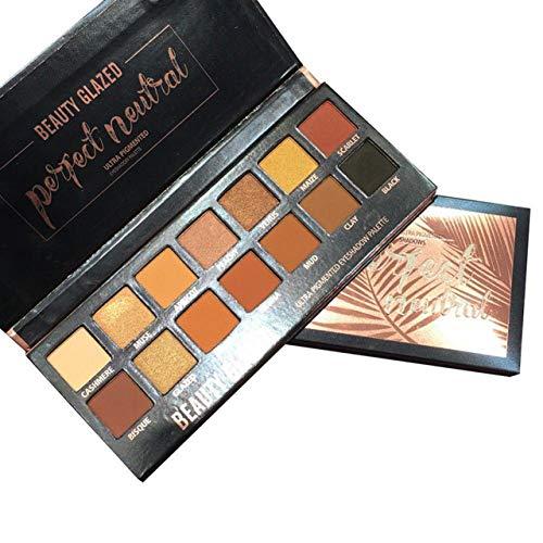 Beauty Glazed 14 Farben Schimmert und Matt Lidschatten Palette Makeup Palette Lang Anhaltende und Mineral Eyeshadow Lidschatten Palette Hoch Pigmente
