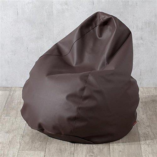 Dekoria Poltrona a sacco Ø60 x 105 cm Marrone scuro