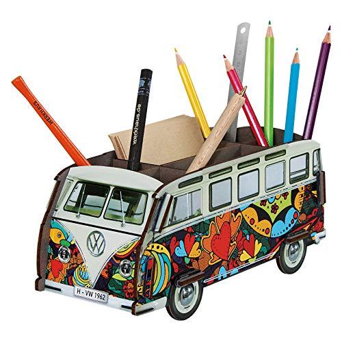 Werkhaus Design + Produktions GmbH Stiftebox 'VW Bus T1 Herzen'