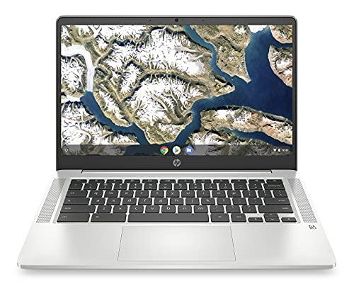 HP Chromebook Laptop, 14 Inch Full HD IPS Scherm, Intel Celeron N4020, 4GB RAM, 64GB eMMC, Chrome OS, 14a-na0161nd, Zilver