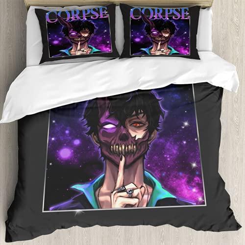 Corpse Husband 3-Piece Comforter Bedding Set Down Comforter Set with 2...