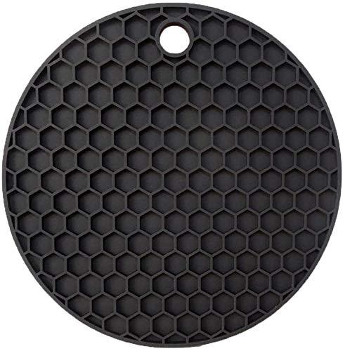 Jacket Mantel individual de silicona multifuncional con diseño de panal de abeja, plegable, antideslizante, color negro