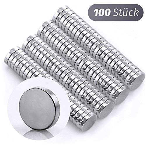 Omicube Hochwertige 100 Mini-Magnete stark 5 x 1 mm