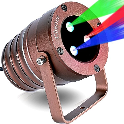 Laser Christmas Lights Outdoor Projector Light IP65 Star Laser Show Decoration Blue & Red & Green Aluminum Laser Spotlights Model-ARGB in Bronze By Cheriee
