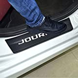 SENYAZON Car Threshold Pedal Sticker for Dodge Journey Decoration Scuff Plate Carbon Fibre Vinyl Sticker Car Accessories car-Styling (White)