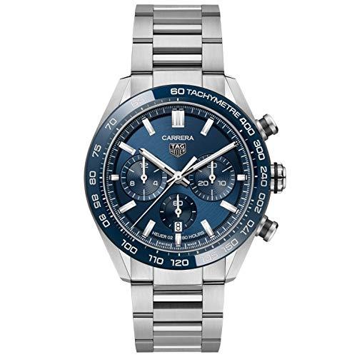 TAG Heuer orologio Carrera cronografo 44mm Calibre Heuer 02 ceramica blu automatico acciaio CBN2A1A.BA0643 - Default Title