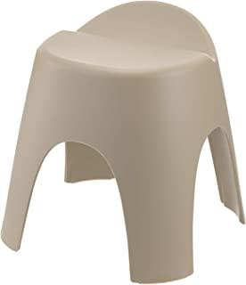 リッチェル バスチェア ブラウン 座面高さ35cm 風呂椅子 アライス腰かけ_背もたれ付_乾きやすい_日本製 抗菌加工