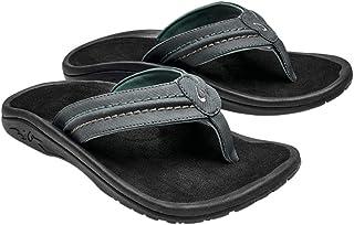OLUKAI Men' s Hokua Surfing Flip-Flop Sandals