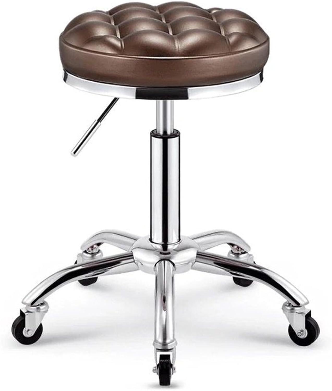 LQQGXL Creative Wrought Iron bar Stool, Descending Chair high Stool Creative Dining Chair, (color   D)