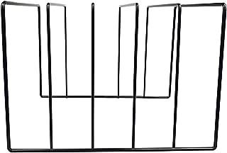 Nai-storage Organizador Estante de Almacenamiento de Libros de Escritorio Soporte de periódico de Revista de Metal para Of...