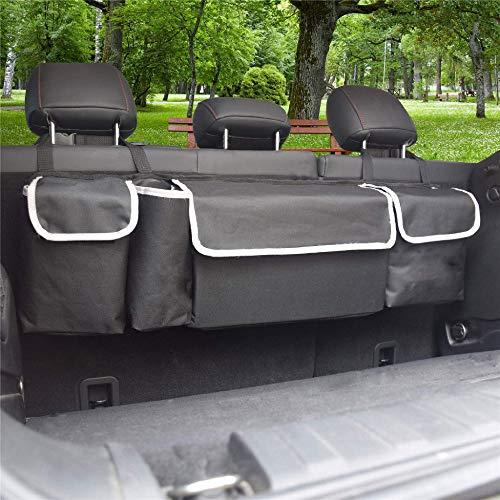 Bolsa de almacenamiento para asiento trasero de coche MIAOMIAO, múltiples bolsillos de red colgantes, bolsa de almacenamiento de equipaje, ordenación automática de accesorios y suministros internos