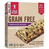 CAVEMAN FOODS GRAIN-FREE CINNAMON RAISIN GRANOLA BAR 12 (1.23 OZ.) BARS