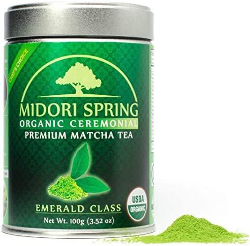 Midori Spring Organic Ceremonial Matcha - Gold Class - 1st Harvest Premium Japanese Matcha Green Tea Powder [Certified Organic, Vegan, Kosher] (30g)