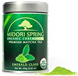 Midori Spring USDA Organic Ceremonial Matcha - Emerald Class - Chef's Choice Quality Japanese Matcha Green Tea Powder, Kosher, Vegan Certified(100g)…