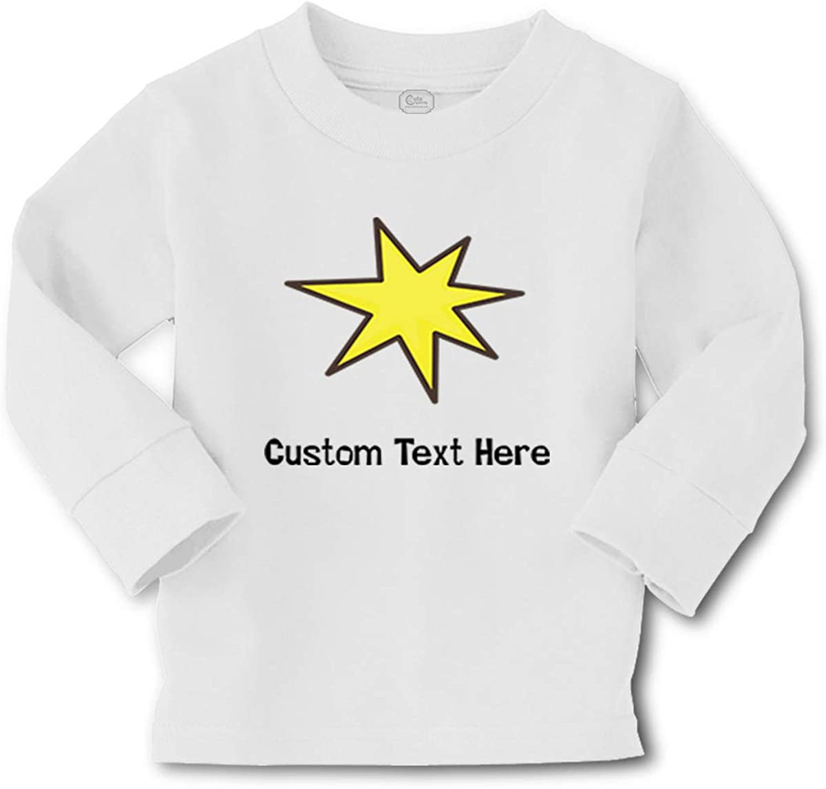 Cute Rascals Kids Long Sleeve T Shirt Star Yellow Cotton Boy & Girl Clothes Funny Graphic Tee