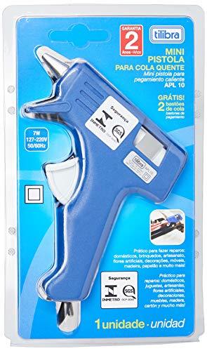 Pistola para Cola Quente Pequena APL10, Tilibra, Azul, 246930 - 1 un