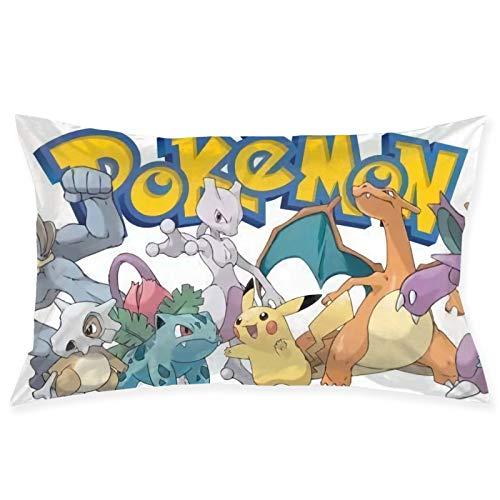 Pokemon Go - Funda de cojín cuadrada para sofá, silla, sofá, dormitorio, sala de estar, decoración del hogar, fundas de almohada decorativas para el hogar, 50,8 x 76,2 cm