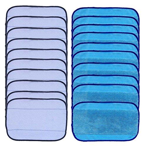 Gaddrt Lot de 20 chiffons en microfibre de lavage pour iRobot Braava 380 380T 320 Menthe 4200 4205, un chiffon de nettoyage humide et sec en microfibre de lavage Pad Lingettes humides