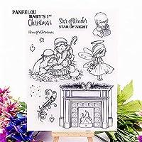天国の暖炉透明なクリアシリコーンスタンプ/シールDIYスクラップブッキング/フォトアルバム装飾的なクリアスタンプシート