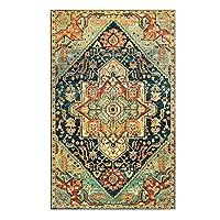 厚い模造カシミヤの床カーペット、素朴なレトロなモロッコのリビングルームの寝室のソファーコーヒーテーブルエリアラグ (Color : C, サイズ : 80cm*120cm)