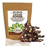 Cacao en polvo - Ingrediente orgánico de chocolate negro vegano - Sin azúcar - Ideal para hornear, batidos y delicioso chocolate caliente - 400g