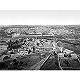Wee Blue Coo Jerusalem City Palestine 1900 Vintage Old BW