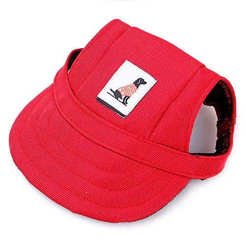 KDSANSO Sombreros para Perros Gorro de Cachorro pequeño tamaño Diseño Visera Perros béisbol Béisbol Sombreros Deportivos Gorra con Orejeras y Correa Barbilla para Cachorro Chihuahua Teddy Pug Viste