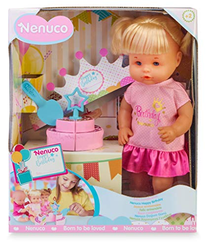Nenuco Happy Birthday! doll with Birthday Cake, ideal for Children from 3 Years (Famosa 700016283), bunt