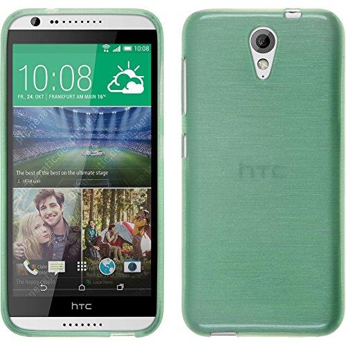 PhoneNatic Funda de Silicona Compatible con HTC Desire 620 - Brushed Verde -...