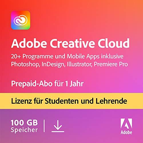 Adobe Creative Cloud All Apps | Student und Teacher | 1 Jahr | PC/Mac | Download