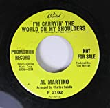 al martino 45 RPM i'm carryin' the world on my shoulders / love is blue