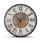 Reloj de pared silencioso de 30 cm, movimiento de cuarzo sin Tic Tac decorativo moderno reloj para la oficina en casa, salón (como en la imagen 6)