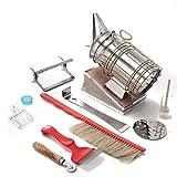 XinXinLan - Juego de 9 herramientas para apicultura, ahumador de colmena, cepillo de abeja, accesorio de agarre de marco